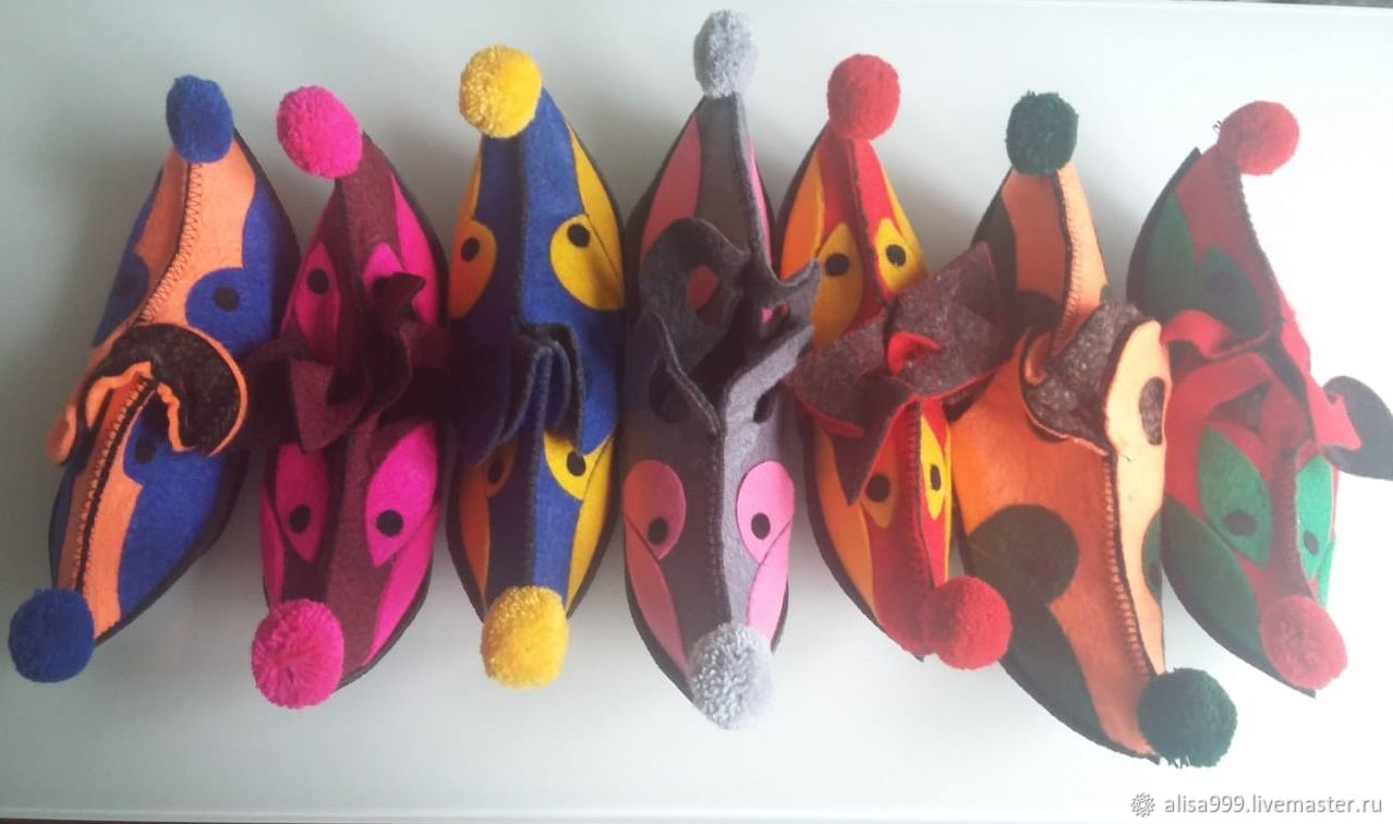 Children's felt Oriental Slippers, Footwear for childrens, Moscow,  Фото №1