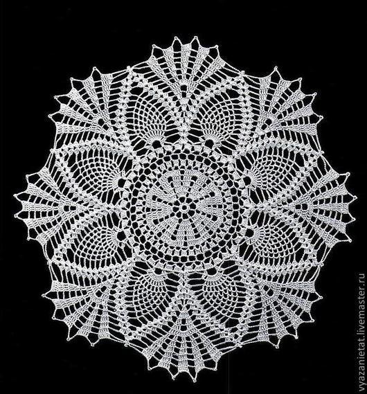 Текстиль, ковры ручной работы. Ярмарка Мастеров - ручная работа. Купить Салфетка №6. Handmade. Белый, вязание, ажурная салфетка