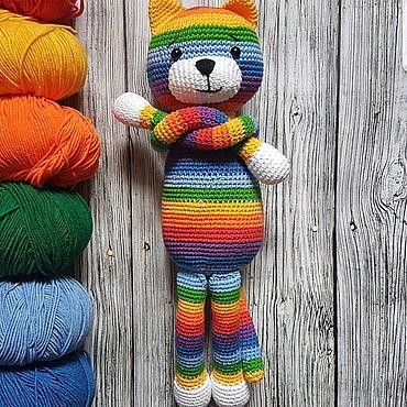 Куклы и игрушки ручной работы. Ярмарка Мастеров - ручная работа Радужный кот. Handmade.