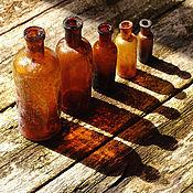 Винтаж ручной работы. Ярмарка Мастеров - ручная работа Набор старинных бутылочек 19 в. Старинные аптечные бутылочки. Handmade.