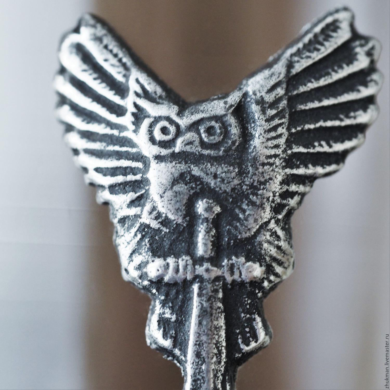 Gifts for Men handmade. Livemaster - handmade. Buy 'GRU INTELLIGENCE' a set of stacks for three (owl on the sword). Gift officer.