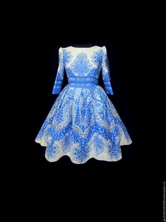 """Платья ручной работы. Ярмарка Мастеров - ручная работа. Купить Платье """"Морозный узор"""". Handmade. Белый, дизайнерская одежда"""