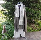 Одежда ручной работы. Ярмарка Мастеров - ручная работа №189.1 58-60р. Льняное платье-сарафан. Handmade.