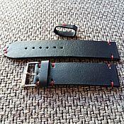 Аксессуары handmade. Livemaster - original item Watchband dark blue. Handmade.