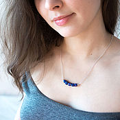 Украшения handmade. Livemaster - original item Lapis lazuli necklace 925 silver. Handmade.