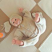 Работы для детей, ручной работы. Ярмарка Мастеров - ручная работа Комплект на выписку из шерсти Совушки с 2-мя шапками. Handmade.