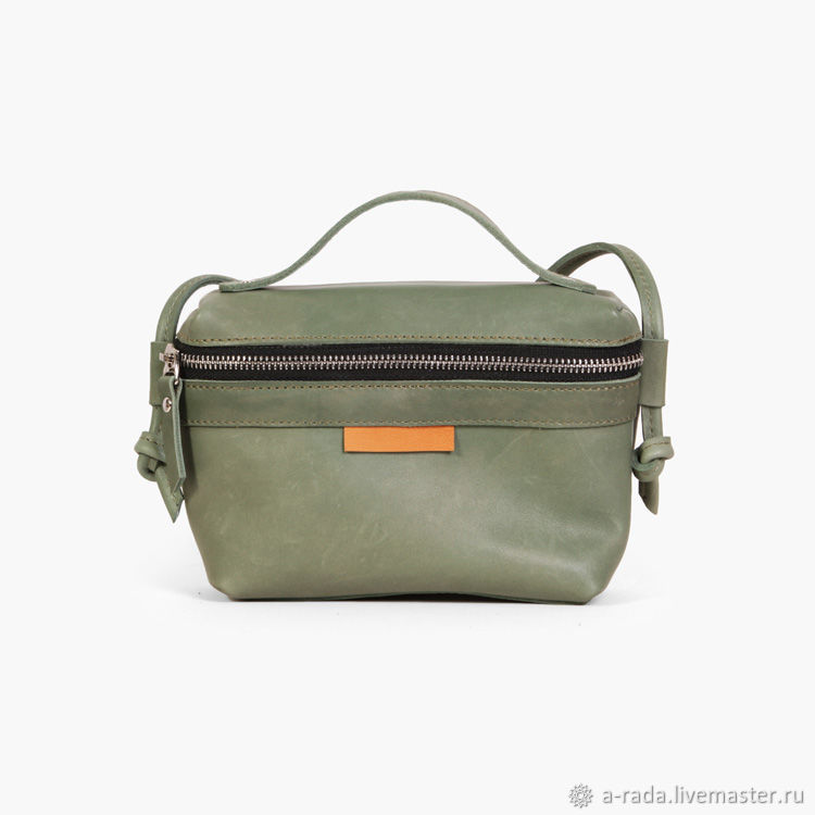 Женские сумки ручной работы. Ярмарка Мастеров - ручная работа. Купить Маленькая зеленая сумочка через плечо Бри. Handmade.
