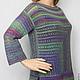 """Кофты и свитера ручной работы. Ярмарка Мастеров - ручная работа. Купить Пуловер """"Зелёный меланж"""". Handmade. Зеленый, пуловер шерстяной"""
