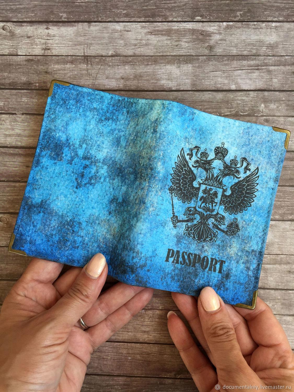 Covers handmade. Livemaster - handmade. Buy Passport cover, a series of 'Patriot'.Cover, passport covers