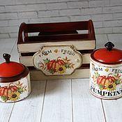 Для дома и интерьера handmade. Livemaster - original item kitchen sets: Solar pumpkin. Handmade.