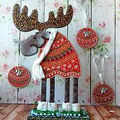 Подарки к праздникам ручной работы. Ярмарка Мастеров - ручная работа Новогодний лось. Handmade.