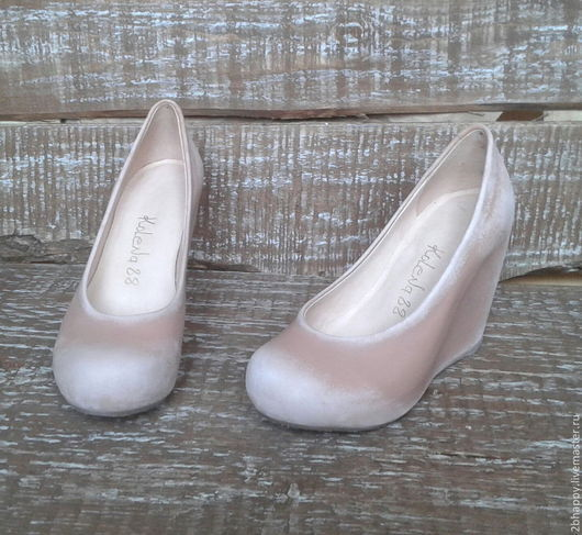 Обувь ручной работы. Ярмарка Мастеров - ручная работа. Купить Туфли на танкетке Moi je m'appelle Lolita. Handmade. Кремовый