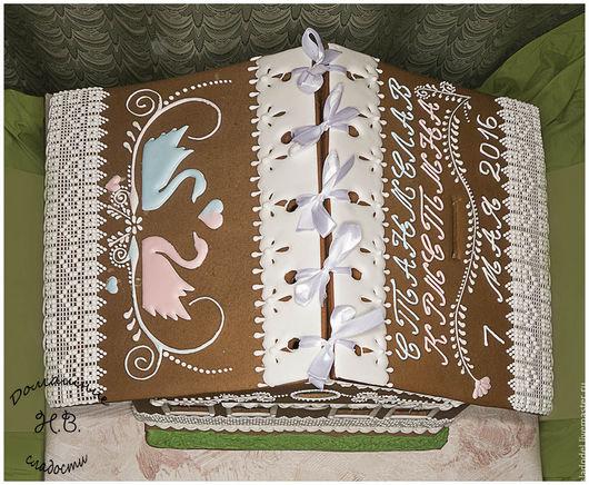 Кулинарные сувениры ручной работы. Ярмарка Мастеров - ручная работа. Купить Свадебный пряничный домик. Handmade. Комбинированный, пряники на заказ