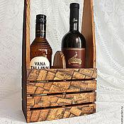 """Для дома и интерьера ручной работы. Ярмарка Мастеров - ручная работа Короб для вина """"Коллекция"""". Подставка под вино из дерева.Ящик для вина. Handmade."""