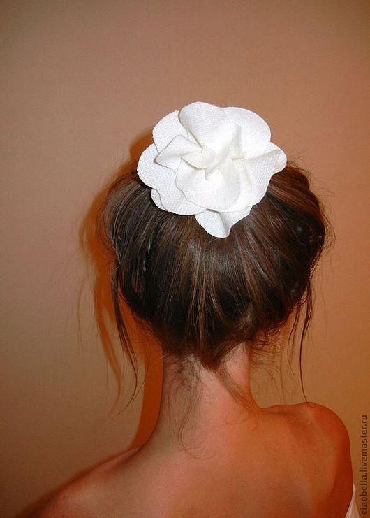 Заколки ручной работы. Ярмарка Мастеров - ручная работа. Купить Молочная роза.... Handmade. Белый, заколка с цветком, шерсть 100%
