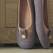 """Обувь ручной работы. Ярмарка Мастеров - ручная работа """"Пастель"""" валяные тапочки-балетки. Handmade."""