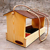 Дача и сад handmade. Livemaster - original item A bird feeder from a tree