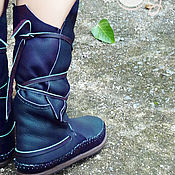 """Обувь ручной работы. Ярмарка Мастеров - ручная работа Темно-синие кожаные мокасины """"Ocean Blue"""". Handmade."""