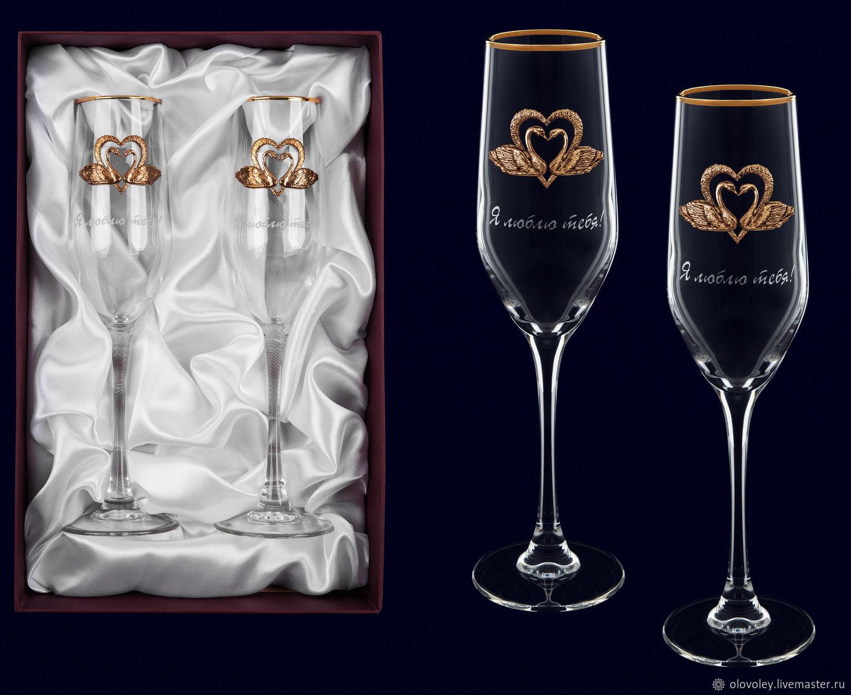 Поздравление к подарку бокалы для шампанского