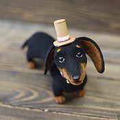 Подарки к праздникам handmade. Livemaster - original item Cute badger-dog. Handmade.