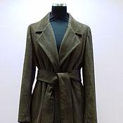 Одежда ручной работы. Ярмарка Мастеров - ручная работа Пальто из замши. Handmade.