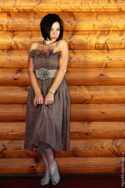 """Платья ручной работы. Ярмарка Мастеров - ручная работа. Купить Платье бандо по колено """"Конфетка"""". Handmade. Разноцветный, платье по колено"""