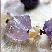 Украшения handmade. Livemaster - original item Stranger. Copper necklace with amethysts, citrines and rock crystal. Handmade.