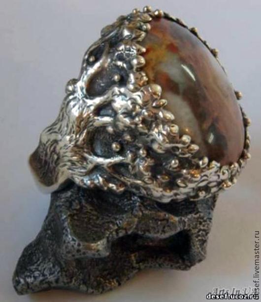 """Украшения для мужчин, ручной работы. Ярмарка Мастеров - ручная работа. Купить Перстень """"Дерево жизни"""". Handmade. Серебряный, перстень, печатка"""