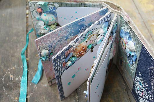 Подарочные наборы ручной работы. Ярмарка Мастеров - ручная работа. Купить Мини-альбом в морском стиле. Handmade. Белый