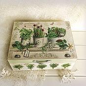 Для дома и интерьера ручной работы. Ярмарка Мастеров - ручная работа шкатулка Пряные травы. Handmade.