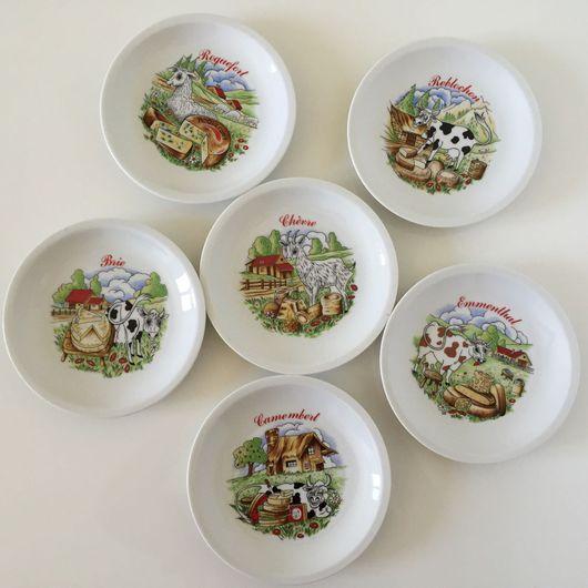 Винтажная посуда. Ярмарка Мастеров - ручная работа. Купить 6 тарелок для сыра. Французский фарфор luxe. Handmade. Французский стиль