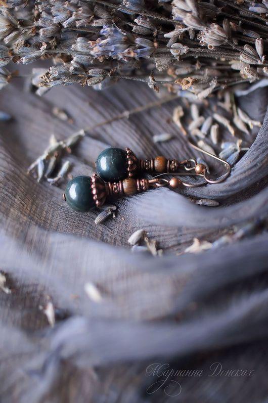 """Серьги ручной работы. Ярмарка Мастеров - ручная работа. Купить Серьги """"Осень в горах"""". Handmade. Разноцветный, Осенние цвета"""
