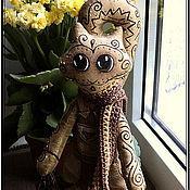 """Куклы и игрушки handmade. Livemaster - original item Кофейный котик """"Лаки"""", текстильная кукла. Handmade."""