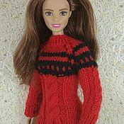 Куклы и игрушки ручной работы. Ярмарка Мастеров - ручная работа Одежда для Барби, свитер для Барби 5. Handmade.