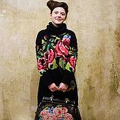 Одежда ручной работы. Ярмарка Мастеров - ручная работа Свитер с розами. Handmade.