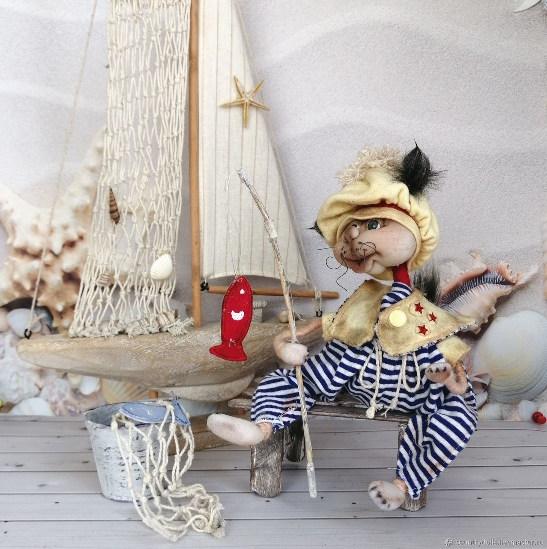 Doll collectible textile interior 'eshkin cat', Dolls, Mezhdurechensk,  Фото №1