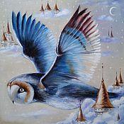 Картины ручной работы. Ярмарка Мастеров - ручная работа Картина маслом с совой Крылья ночи. Handmade.