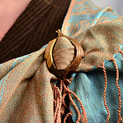 Аксессуары ручной работы. Ярмарка Мастеров - ручная работа Пряжка листик мореный дуб маленький с заболонью. Handmade.