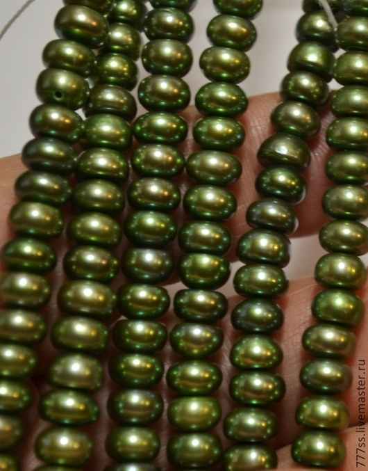 Для украшений ручной работы. Ярмарка Мастеров - ручная работа. Купить Жемчуг (кукуруза, оливковый цвет). Handmade. Оливковый