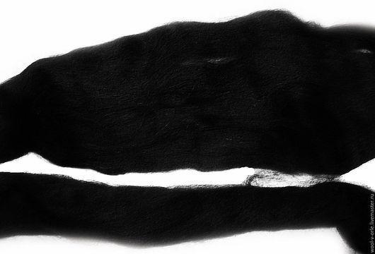 Валяние ручной работы. Ярмарка Мастеров - ручная работа. Купить АЛЬПАКА чёрная. Handmade. Черный, альпака, альпака 100%