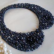 Аксессуары handmade. Livemaster - original item Collar of black pearls. Handmade.