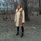 Одежда handmade. Livemaster - original item Cover, remake fur coat with leopard print. Handmade.