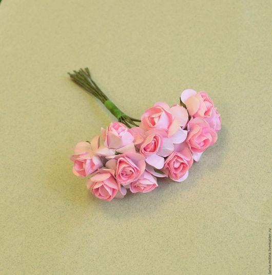 Куклы и игрушки ручной работы. Ярмарка Мастеров - ручная работа. Купить Букет MG-FA526-08-1 розы розовые. Handmade.