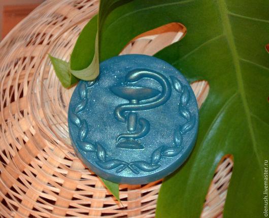 """Мыло ручной работы. Ярмарка Мастеров - ручная работа. Купить Мыло ручной работы """"Медицинская змея"""". Handmade. Зеленый, медработнику"""