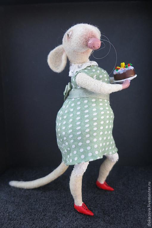 """Куклы и игрушки ручной работы. Ярмарка Мастеров - ручная работа. Купить крыса """"Ну как я вам?"""". Handmade. Белый, крысы, эпоксилин"""