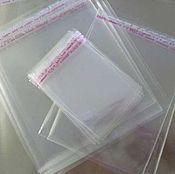 Материалы для творчества ручной работы. Ярмарка Мастеров - ручная работа Пакеты упаковочные прозрачные 12х13+3 см со скотчем. Handmade.