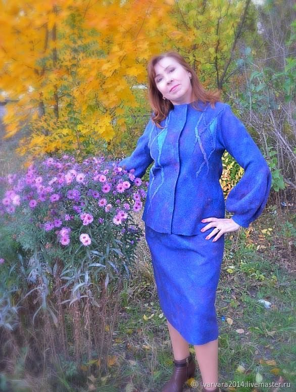 Suit felted ' Royal blue', Suits, Astrakhan,  Фото №1