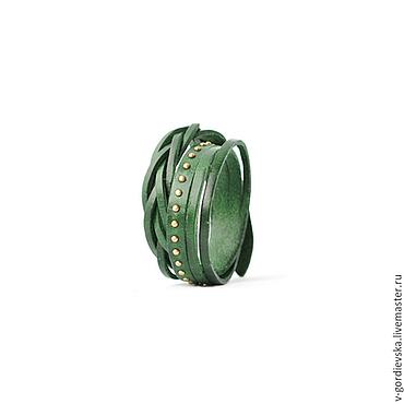 Украшения ручной работы. Ярмарка Мастеров - ручная работа Браслет Twist, зеленый. Handmade.