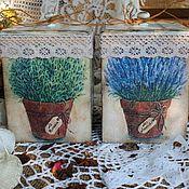 """Для дома и интерьера ручной работы. Ярмарка Мастеров - ручная работа Коробы """" Ароматные прованские травы"""". Handmade."""