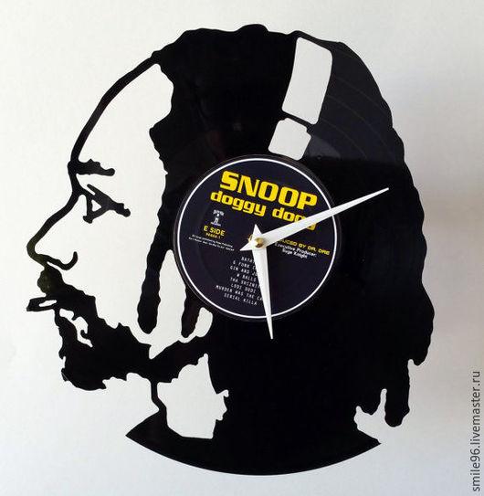 """Часы для дома ручной работы. Ярмарка Мастеров - ручная работа. Купить Часы из пластинки """"Snoop Dogg"""". Handmade. Snoop dogg"""